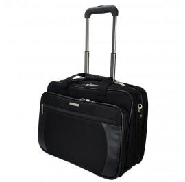 Slazenger SZ1099 Pilot Case Business Laptop Bag with Trolley Black