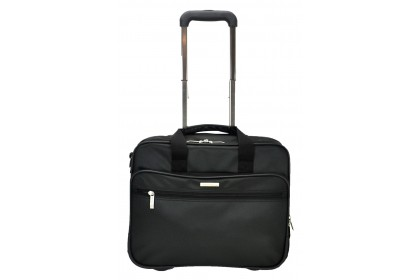 Slazenger SZ1100 Pilot Case Business Bag with Trolley Black