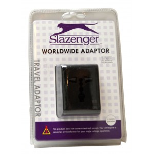 Slazenger SZ7076 Worldwide Travel Adaptor Black