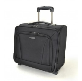 Slazenger SZ1113 Pilot Case Business Laptop Bag with Trolley 15-inch Black