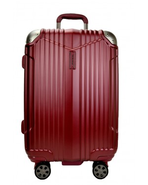 Hush Puppies 694011 ABS Hard Trolley Case Luggage 25-inch Wine Red