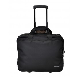 Hush Puppies 693308 Document Bag with Trolley 16.5-inch Black