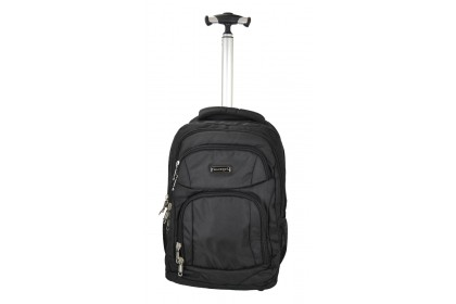 Slazenger SZ3352T Rolling Backpack with Trolley with Improved Mobility Black