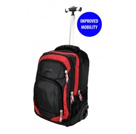 Slazenger SZ3352T Rolling Backpack with Trolley with Improved Mobility Red