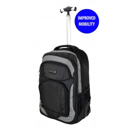 Slazenger SZ3352T Rolling Backpack with Trolley with Improved Mobility Grey
