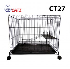 WCatz CT27 / C356 1-Level 1-Tier Cat Cage Collapsible With Wheels