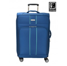 Slazenger SZ1118 20-inch Expandable Softcase Luggage with Double-Coil Zipper System