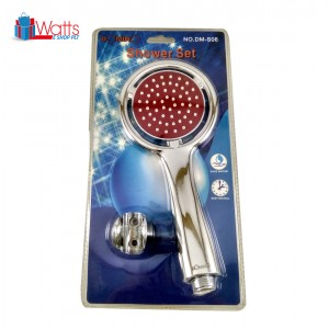 Domino DM-S06 Circle Shower Head Set with Stainless Steel Hose