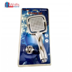 Domino DM-S05 Square Shower Head Set with Stainless Steel Hose
