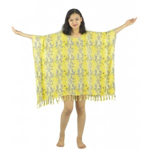 Lifestyle Batik Animal Skin Print Batik PLUS SIZE Tunic Poncho Caftan Blouse Top