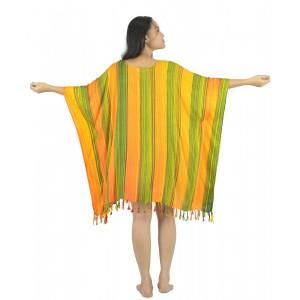 Lifestyle Batik Stripe Tie Dye Batik PLUS SIZE Caftan Top