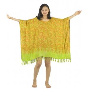 Lifestyle Batik Green Abstract Motif Batik PLUS SIZE Caftan Blouse Top