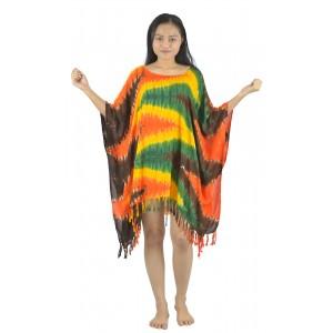 Lifestyle Batik Zig Zag Tie Dye Batik PLUS SIZE Caftan Blouse Top