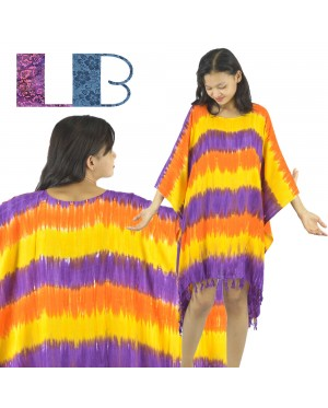 Lifestyle Batik Stripe Tie Dye Batik PLUS SIZE Caftan Blouse Top
