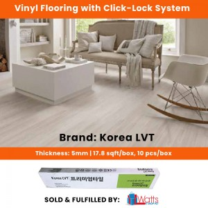 KLVT Korean Vinyl 5mm Click-Lock Flooring