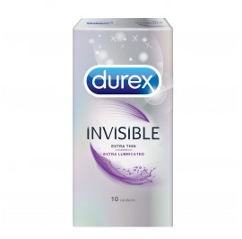 Durex Invisible Extra Lubricated 10's