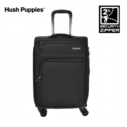 Hush Puppies 693141 20-inch Softcase Luggage with Double-Coil Security Zipper System