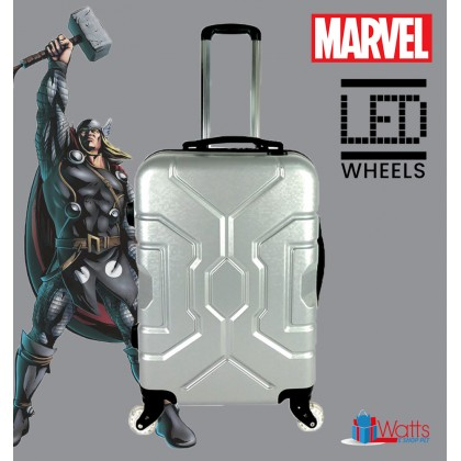 Marvel VAA1890 Superheroes-Inspired 24-inch PC Hardcase Luggage With LED Spinner Wheels