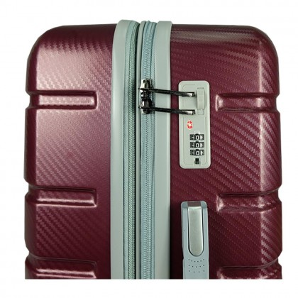 Giordano GA1905 24-inch Ultra-Strong ABS Expandable Hardcase Luggage with Security Zipper