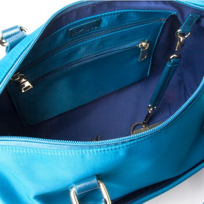 DAZZ On the Go Classic 4in1 Bag Electric Teal Clutch Crossbody Zipper Pouch Bag