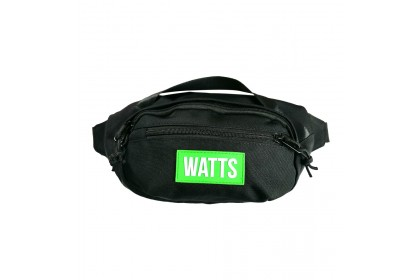 WATTS Waist Pouch Bag for Men 2.5L with FREE i7s Wireless Earphones
