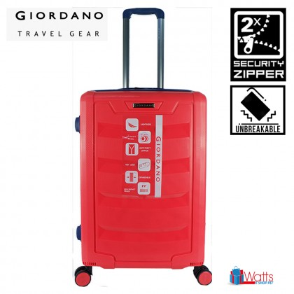 Giordano GA1902 28-inch PP Unbreakable Expandable Hardcase Luggage with Security Zipper